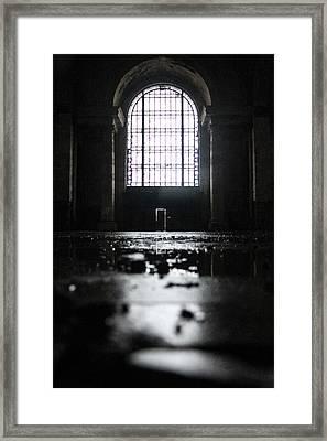 Michigan Central Station Window  Framed Print