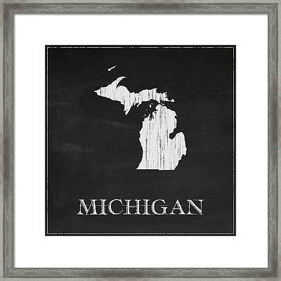 Michigan - Chalk Framed Print