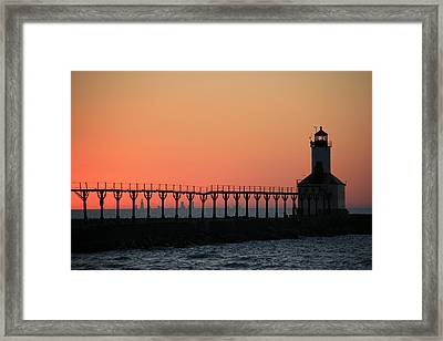 Michigan City East Pier Lighthouse Framed Print