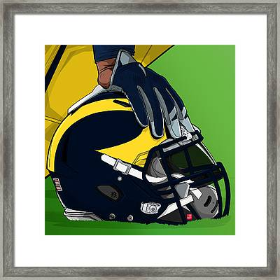 Michigan College Football Framed Print