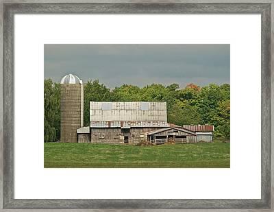 Michigan Dairy Barn Framed Print