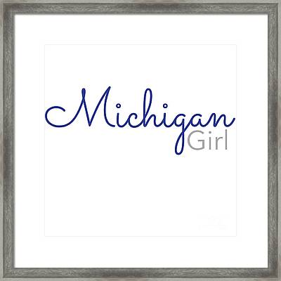 Michigan Girl Framed Print