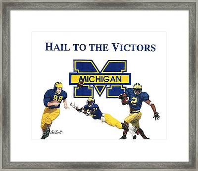 Michigan Heismans Framed Print