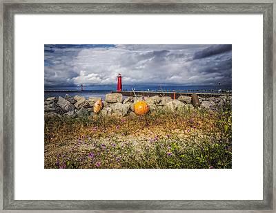 Michigan Lighthouse Framed Print