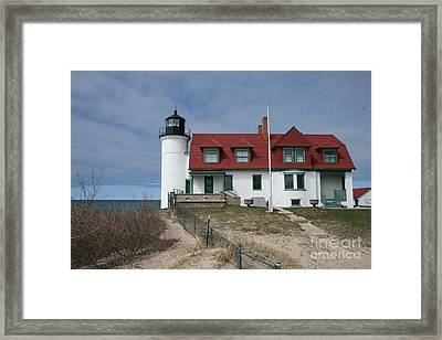 Framed Print featuring the photograph Michigan Lighthouse II by Gina Cormier