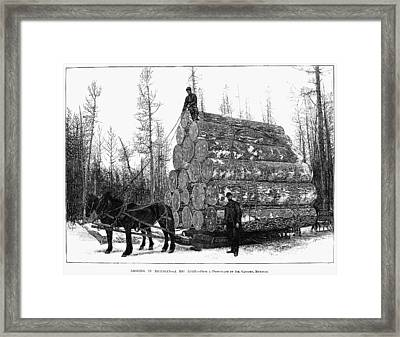 Michigan: Lumbering Framed Print by Granger