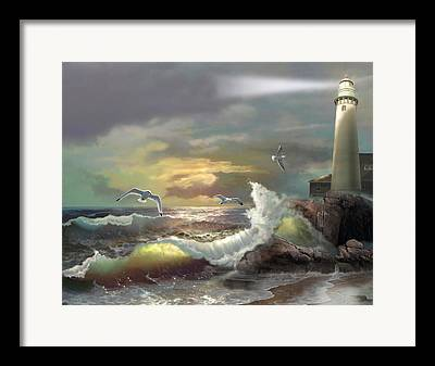 Waterscape Paintings Framed Prints