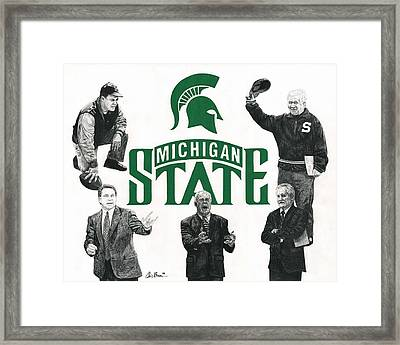 Michigan State Coaching Legends Framed Print