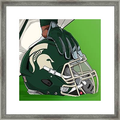 Michigan State College Football Framed Print by Akyanyme