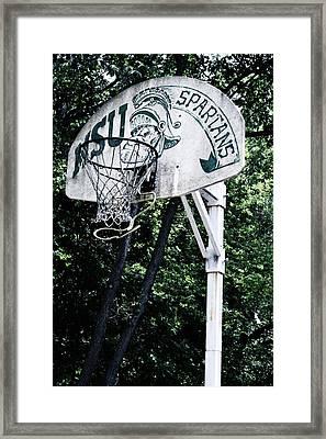 Michigan State Practice Hoop Framed Print