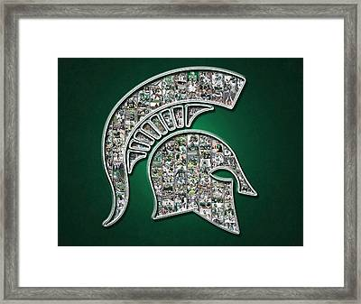 Michigan State Spartans Football Framed Print by Fairchild Art Studio