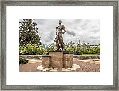 Michigan State - The Spartan Statue Framed Print by John McGraw