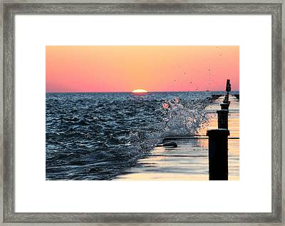 Framed Print featuring the photograph Michigan Summer Sunset by Bruce Patrick Smith