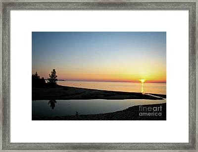 Michigan Sunset Framed Print by Brent Parks