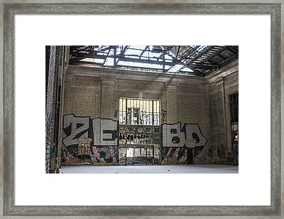 Michigan Train Depot Detroit  Framed Print