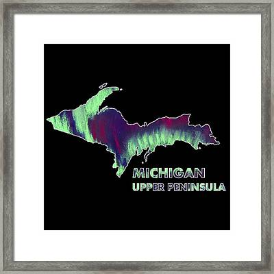 Michigan - Up - Northern Lights - Aurora Hunters Framed Print