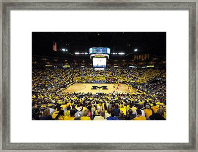 Michigan Wolverines Crisler Center Framed Print by Replay Photos