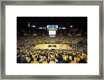 Michigan Wolverines Crisler Center Framed Print