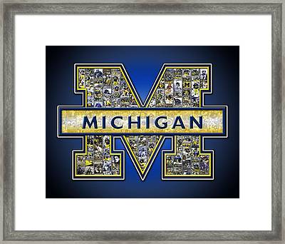 Michigan Wolverines Football Framed Print by Fairchild Art Studio