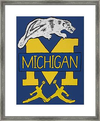 Michigan Wolverines Framed Print
