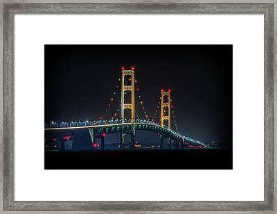 Michigan's Nightlight Framed Print