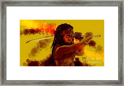 Michonne Framed Print by David Kraig