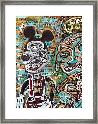 Mick And Frank Framed Print