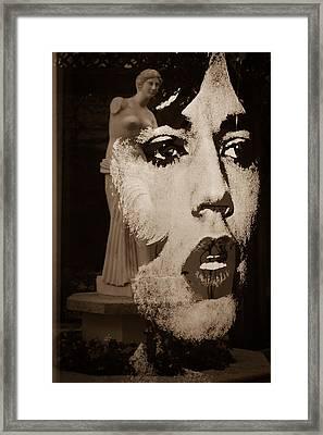 Mick Black And White Framed Print