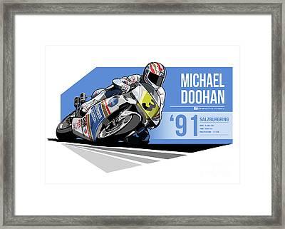 Mick Doohan - 1991 Salzburgring Framed Print by Evan DeCiren