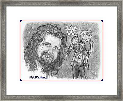 Mick Foley Framed Print by Chris  DelVecchio