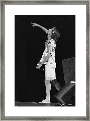 Mick Gestures Framed Print by Jurgen Lorenzen