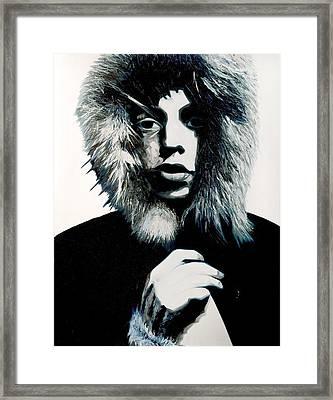 Mick Jagger - Rolling Stones Framed Print by Jocelyn Passeron