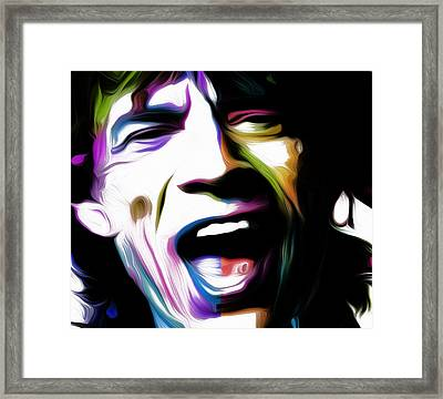 Mick Jagger 2v By Nixo Framed Print