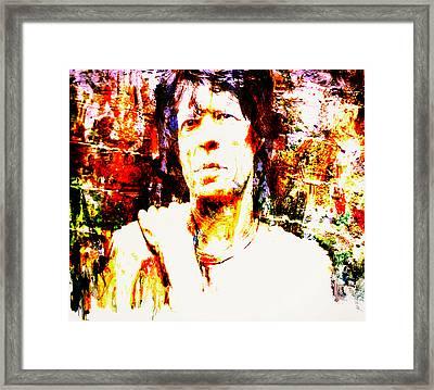 Mick Jagger 3c Framed Print