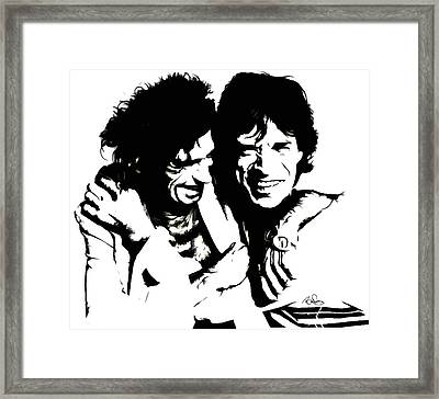 Mick Jagger And Keith Richards 3c  Framed Print