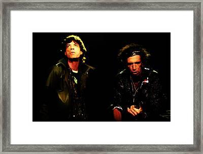 Mick Jagger And Keith Richards 4e Framed Print