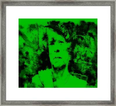 Mick Jagger Green Framed Print