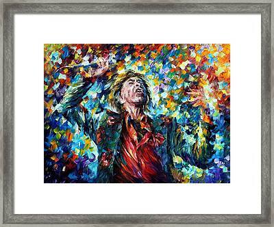 Mick Jagger Framed Print by Leonid Afremov