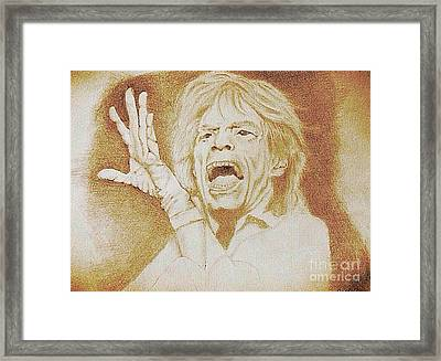 Mick Jagger Of The Rolling Stones Framed Print