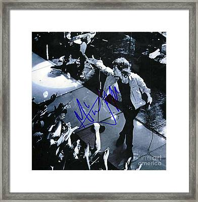 Mick Jagger On Stage Signed Framed Print by Pd