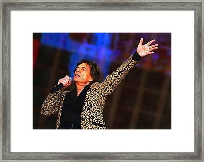 Mick Jagger Framed Print by Galeria Zullian  Trompiz