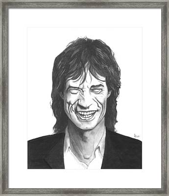 Mick Jagger Framed Print by Russell Griffenberg