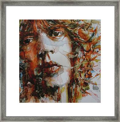 Mick Jagger - Start Me Up  Framed Print