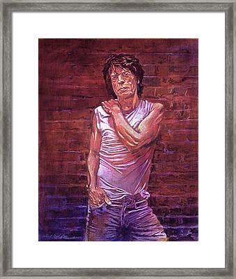 Mick Jagger The Wall Framed Print