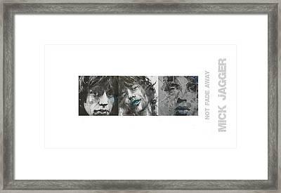 Mick Jagger Triptych Framed Print