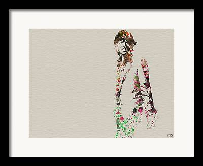 Mick Jagger Framed Prints