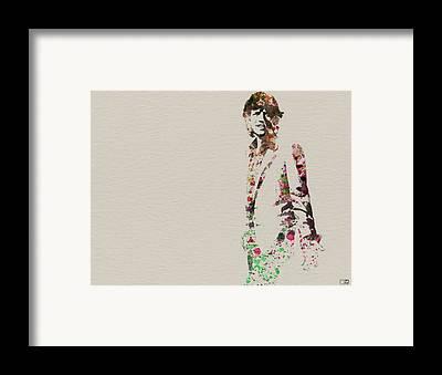 Mick Jagger Framed Prints