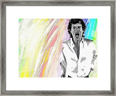Framed Print featuring the mixed media Mick by Mary Morawska