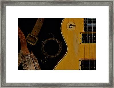 Mick Ronson 1968 Gibson Les Paul Custom  Framed Print by Lisa Johnson