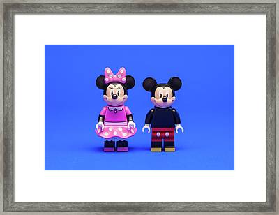 Mickey And Minnie Framed Print by Samuel Whitton